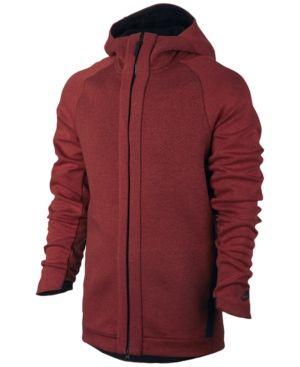 Nike Men's Sportswear Tech Fleece Zip Hoodie - Red 2XL