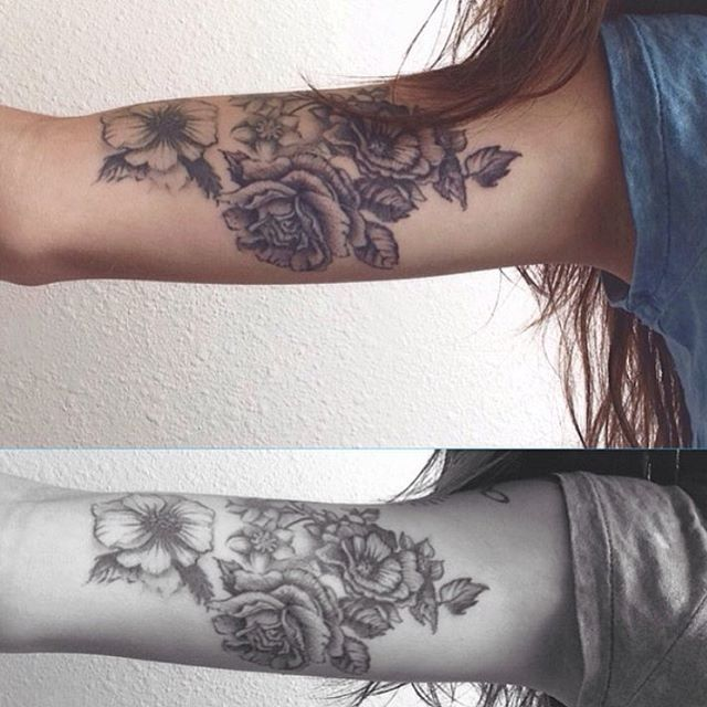 """Absolutely amazing. #tattoos #tattoo #littletattoos #flowertattoos"""