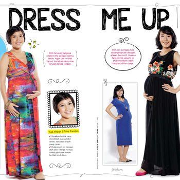 Pilihan busana cantik untuk ibu hamil.  :: Pregnancy Fashion Style :: E-book
