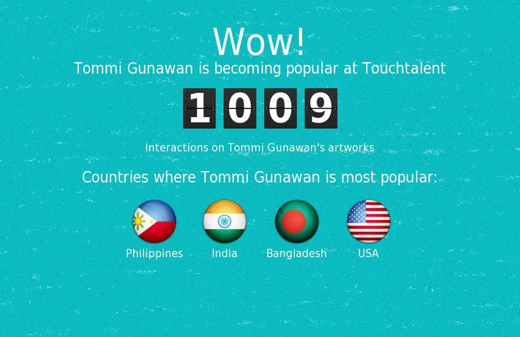 Tommi Gunawan is becoming popular @touchtalent.com