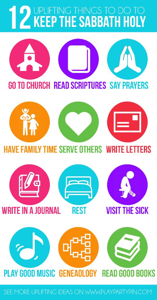This keeping the sabbath day holy handout is perfect for teaching young women, kids, or even adults about uplifting things to do on the sabbath!