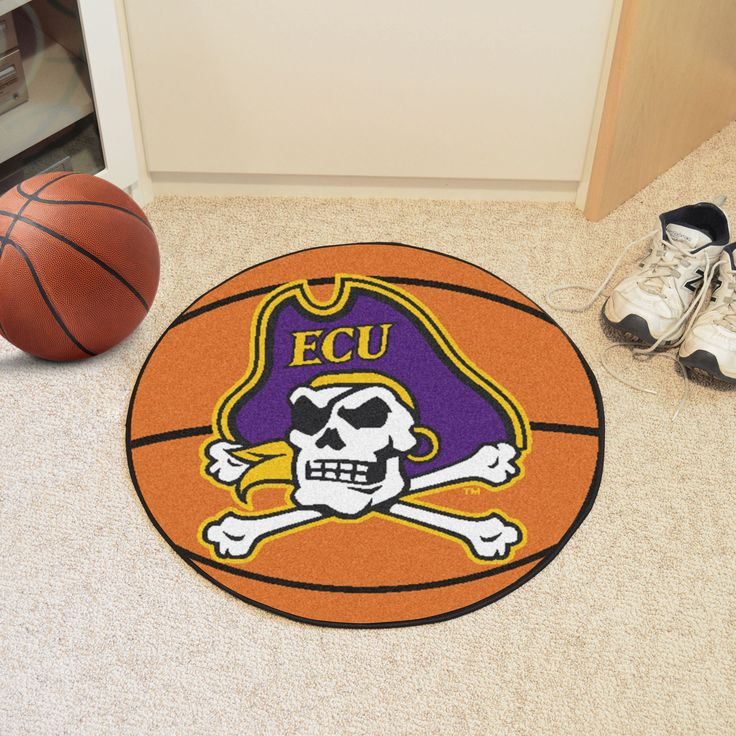 "East Carolina University Basketball Mat 27 diameter - For all those hoops fans out there: basketball-shaped area rugs by FANMATS. Made in U.S.A. 100% nylon carpet and non-skid recycled vinyl backing. Machine washable. Officially licensed. Chromojet printed in true team colors.FANMATS Series: BASKETBTeam Series: East Carolina UniversityProduct Dimensions: 27"" diameterShipping Dimensions: 27""x14""x0.5"". Gifts > Licensed Gifts > Ncaa > All Colleges > East Carolina University. Weight: 1.70"