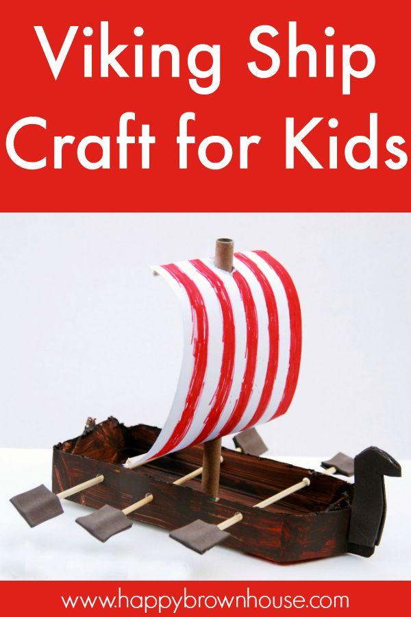 Viking Ship Craft For Kids Boat Crafts Ship Craft Crafts For Kids