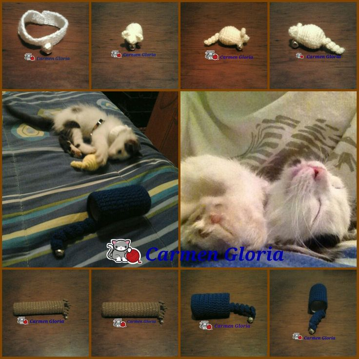 Artículos de juego para gato a crochet