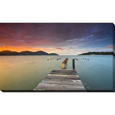 PicturePerfectInternational 'Marina Island, Lumut Perak Malaysia' Photographic Print on Wrapped Canvas Size:
