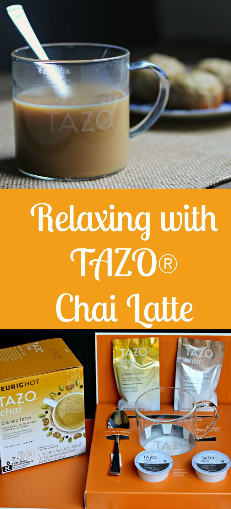 TAZO chai tea latte #SweetMeetsSpicy #ChaiLatte #KCup #IC #ad