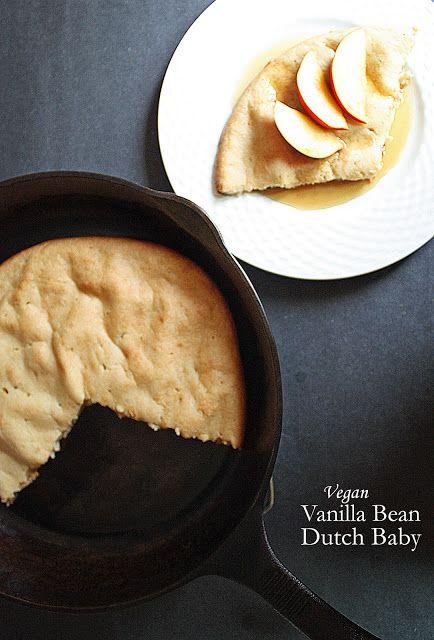 Vegan vanilla bean Dutch baby with vanilla pancake syrup. | How to ...