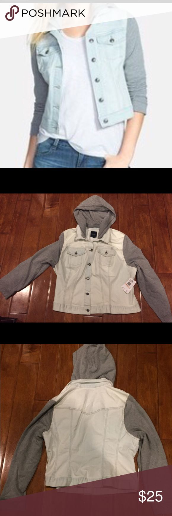 Jessica Simpson Plus Hooded Jean Jacket Size 2xl. New with tags! Jessica Simpson Jackets & Coats Jean Jackets