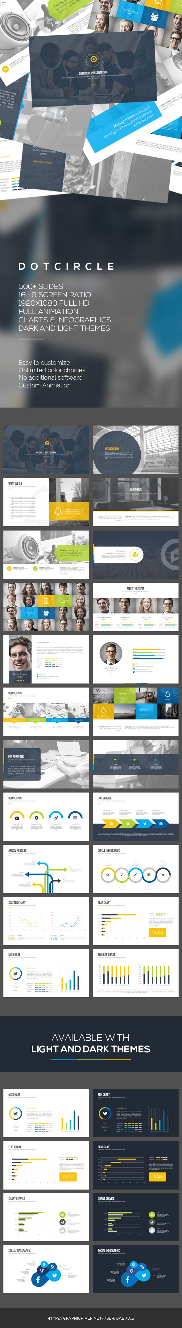 Dotcircle PowerPoint Template #powerpoint #powerpointtemplate Download: http://graphicriver.net/item/dotcircle-powerpoint-template/10412264?ref=ksioks