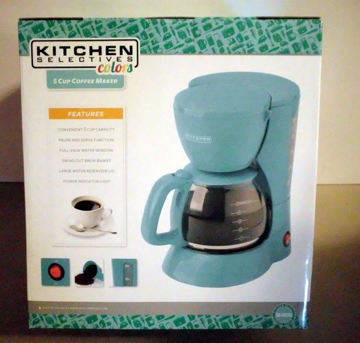 Retro Aqua  5 Cup Coffee Maker #morning #coffee