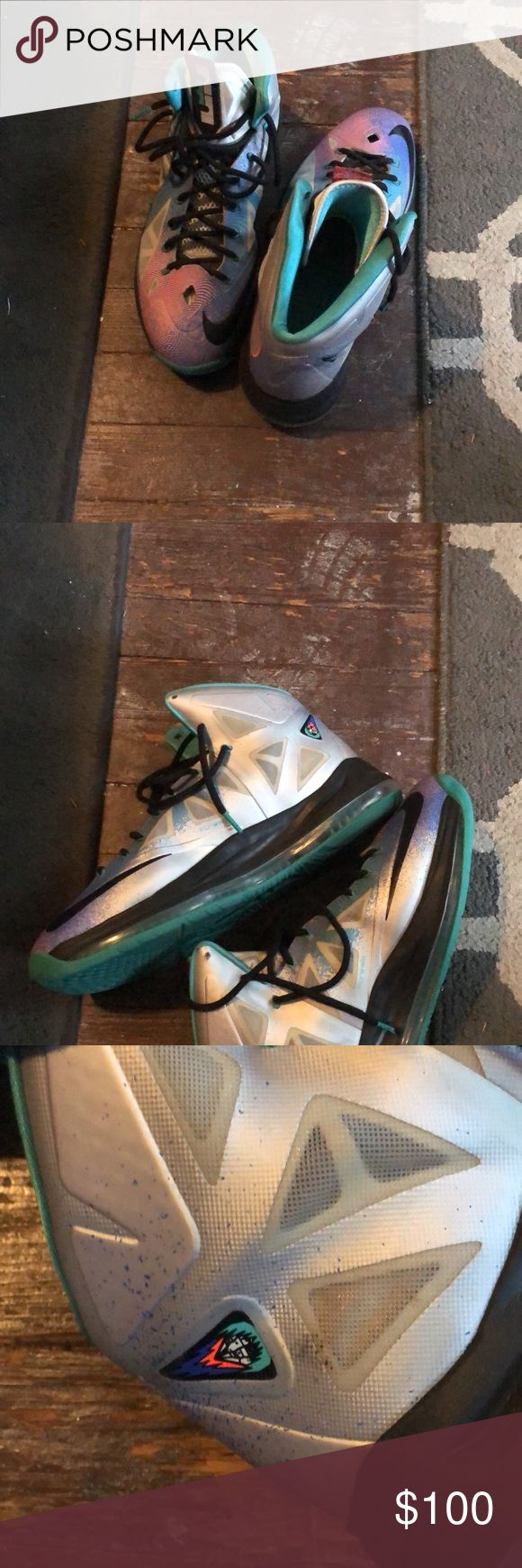 LeBron Janes X Pure Platinum Condition 8/10 With No Box Nike Shoes Athletic Shoes