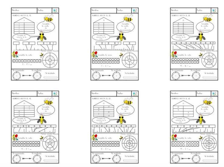 Nuevo cuaderno de 10 fichas para trabajar la descomposición de la cantidad hasta el 100. Cada ficha del cuaderno trabaja una decena hasta llegar a