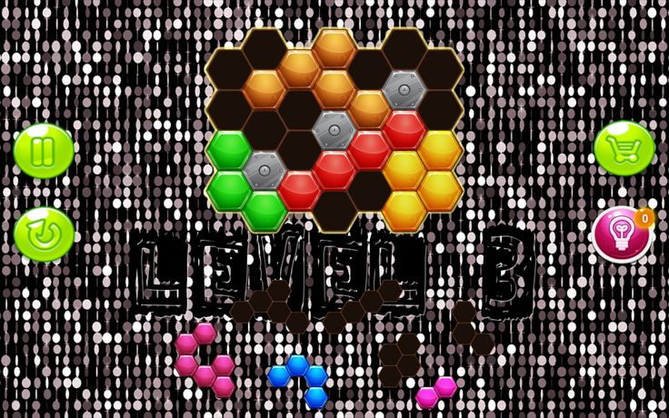 Hexa Chaos - Hexagonal Brain Puzzle for Perception  Tame the hexagonal chaos by putting hexa puzzle blocks in order! HEXA CHAOS is hexa puzzle mind game for training perception, logical thinking and patience.  An addictive hexa puzzle game and the ultimate brain teaser game for three dimensional brain exercise. Figure out how to fill the puzzle board with colorful hexagonal blocks. Trains perception, logical thinking and three dimensional reasoning.  Free Android Game!