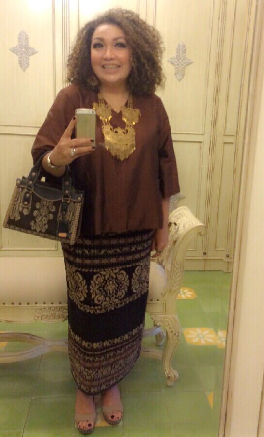 with LINGGA Petite Tote Bag & TONDANO Wedges by PRibuMI...®
