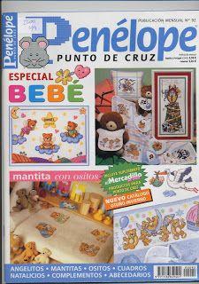 REVISTAS DE MANUALIDADES GRATIS: Penélope especial bebé punto de cruz