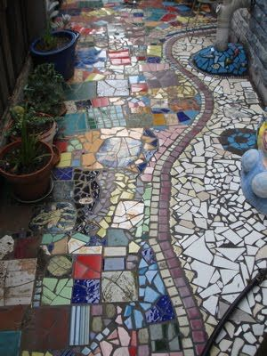 Makes me think of found tiles for a pathway..