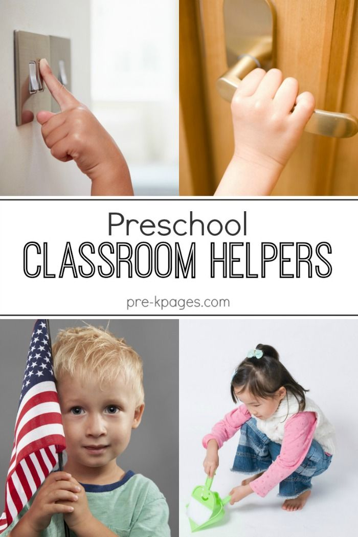 Classroom Helpers in Preschool. Classroom jobs for preschoolers. Let them help and watch them learn!