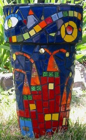 Mosaic Planter by Jadedgold1