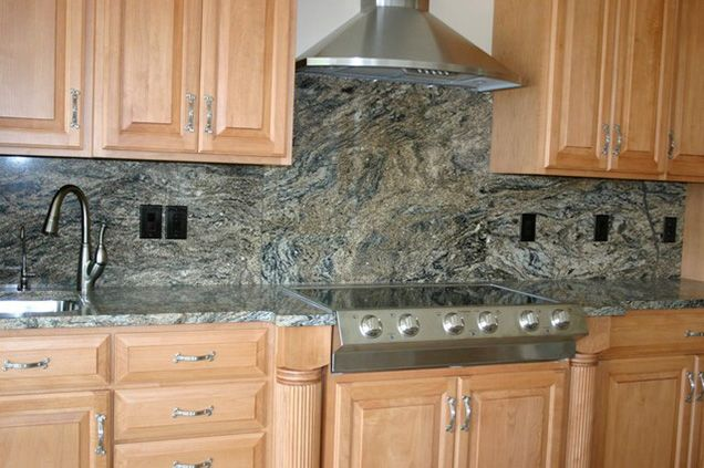 How to Choose the Right Backsplash for Your Granite Kitchen Counters | Stay consistent from top to bottom | Granite Kitchen Backsplash