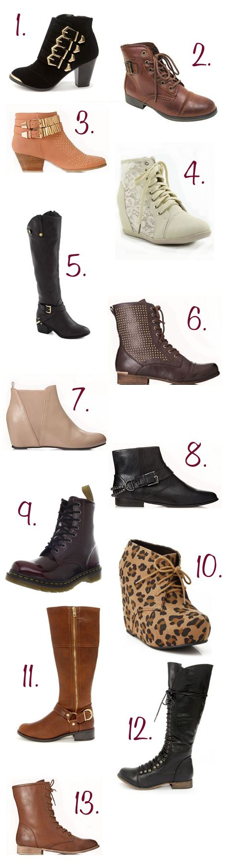 Vegan Fashion | Boots for Fall, All the right trends!  Also vegan inspired, www.facebook.com/carbology tuck in.