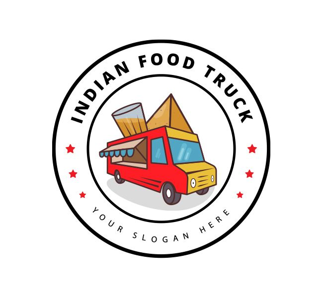 Indian Food Truck Logo Business Card Template Branding For Indian