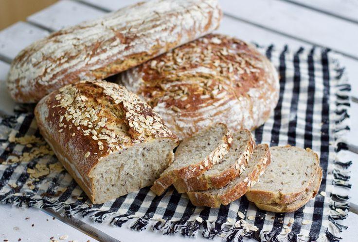 Havre- och linfröbröd- Saftigt och gott