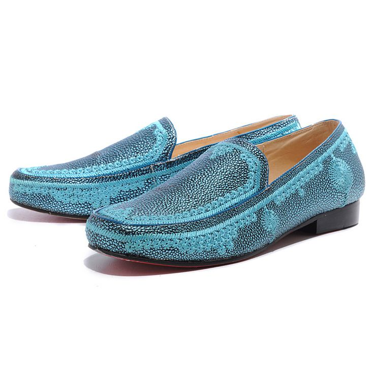 Christian Louboutin Croc Maroc Loafers Blue1 being unfaithful limited offer,no taxes and free shipping.#shoes #womenstyle #heels #womenheels #womenshoes  #fashionheels #redheels #louboutin #louboutinheels #christanlouboutinshoes #louboutinworld