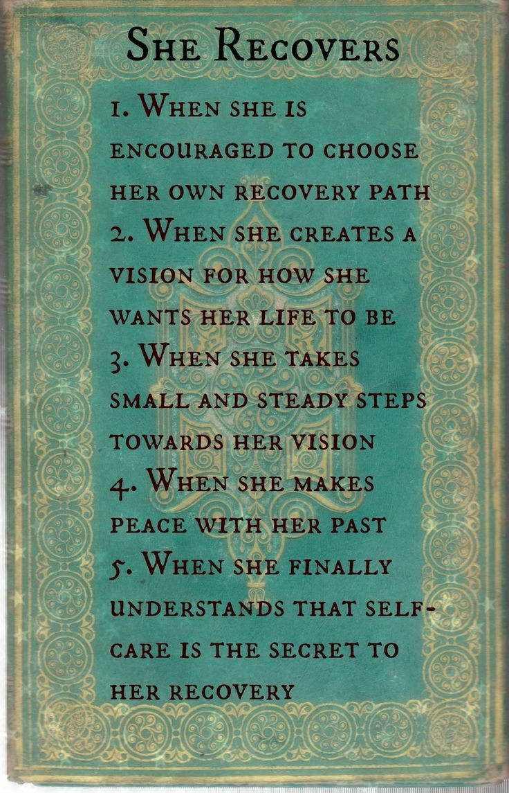 She Recovers When...