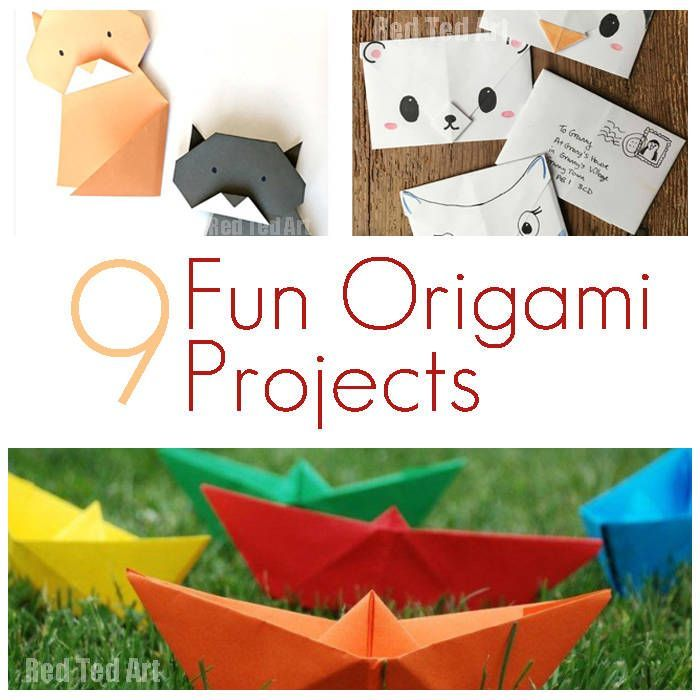 9 fun origami projects from the very fabulous Red Ted Art   a gorgeous craft for slightly older kids and paper craft loving adults too