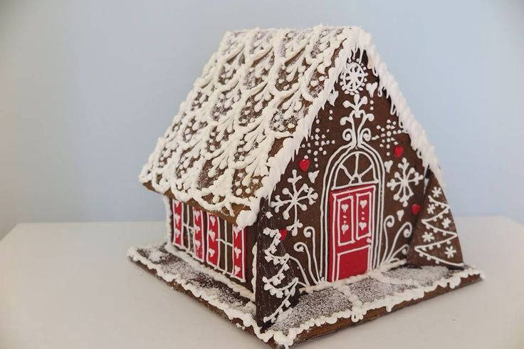Red gingerbread house