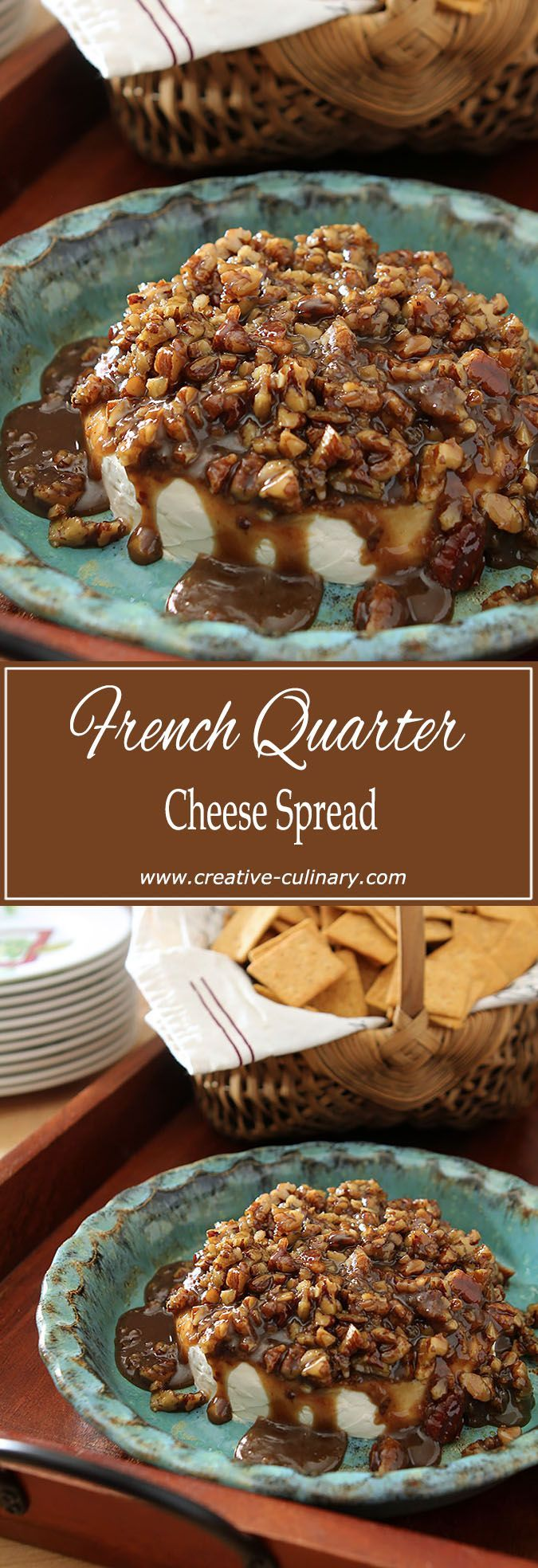This French Quarter Cheese Spread is so delicious I sometimes wish company would cancel and it could be all mine. via @creativculinary