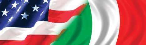 AMERICAN FLAG AND ITALIAN FLAG Rear Window Graphic