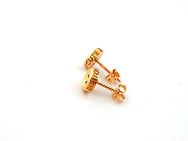 Cute as a Button 9ct yellow gold studs
