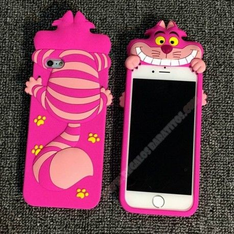 Carcasa 3D Divertida silicona gato alice para iPhone 6 Plus/6S Plus