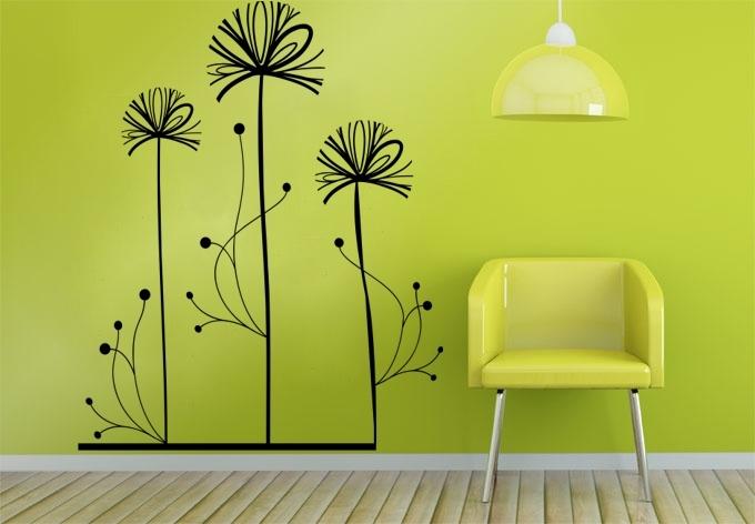 Abstrakta blommor / Väggdekor