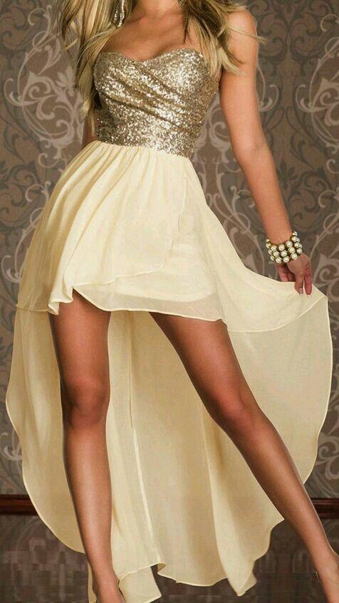 Vestido corto cola de pato