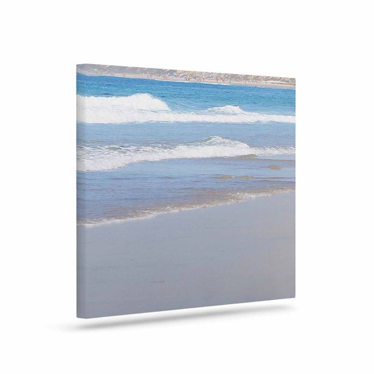 "Sylvia Coomes ""California Beach"" Blue Beige Canvas Art"