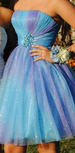 Purple and Blue Sparkly Knee Length HOMECOMING DRESS size 4 | eBay $75.00