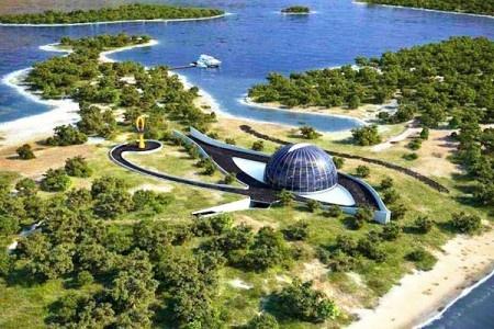 Naomi Campbell's eye shaped house.