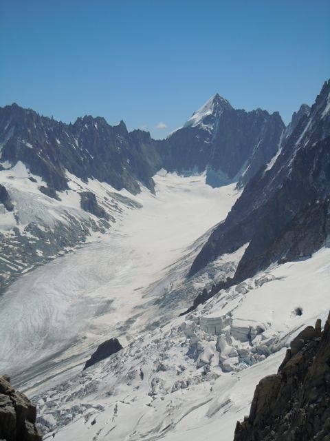 Glacier d'Argentiere, view from Grands Montets, France, July 2012