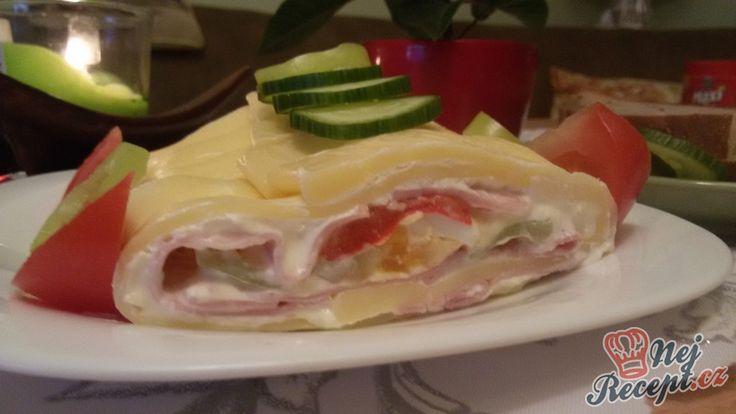 Na párty, oslavu, snídaně nebo večeři. Vynikající plněná sýrová roláda.