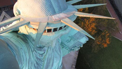 Kids can take a realistic look at the Statue of Liberty from these live online web cams. Ask children to research the history of our famous Lady Liberty.