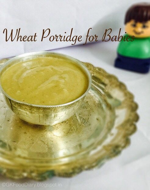 Wheat is a healthy food for baby and should be introduced after 8 months. When I started wheat for my baby, I have given plain wheat porridge with Apple or jaggery as a sweetener and checked whether she is allergic to wheat. She doesn't show any symptoms. Later I want to make the wheat porridge...Read More »