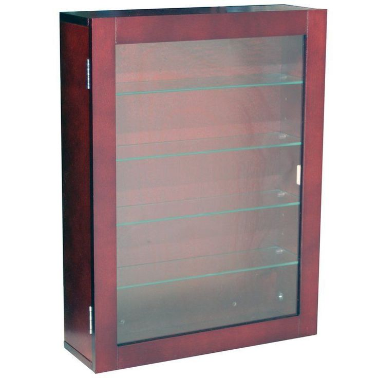 Wall Mounted Display Cabinet Tempered Glass Door Kitchen Dining Room  Furniture