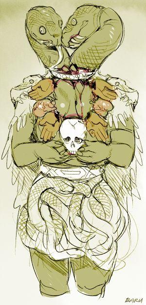 30 Day Monster Girl Challenge  25. Favourite Monster Girl  I chose the Aztec earth goddess Coatlicue. :'p