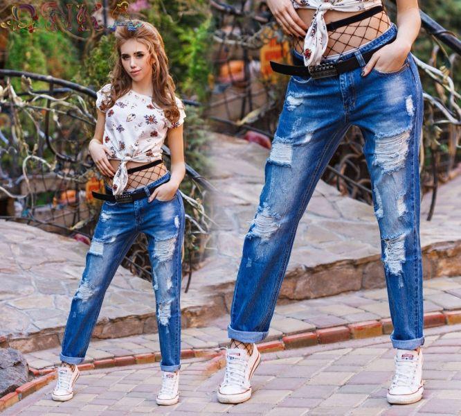 Модные джинсы ,сочетание рванки и терки на ткани