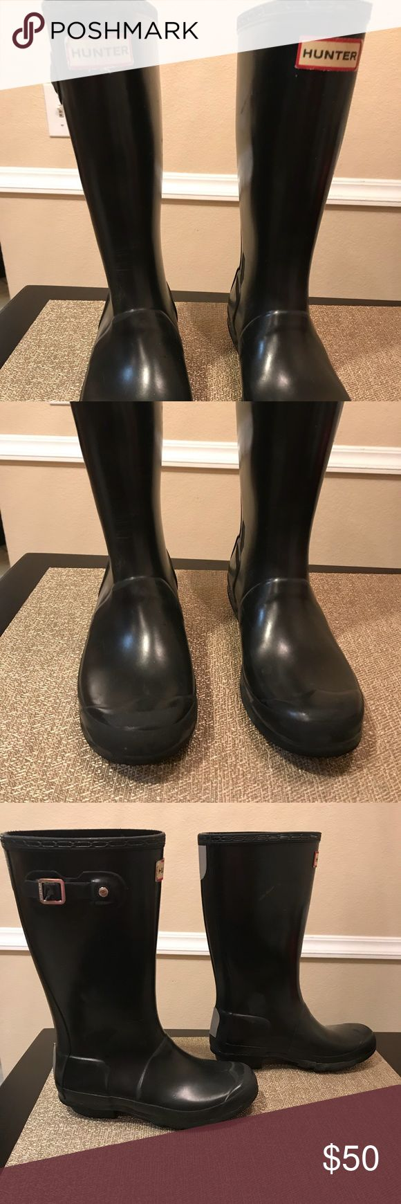 Girls Hunter Boots In Good condition. Signs of wear. Hunter Boots Shoes Rain & Snow Boots