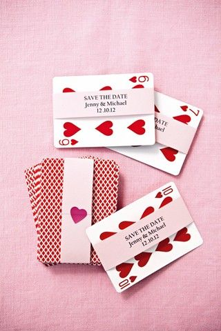 """Queen Of Hearts - a quirky save-the-date cards"" I like this but it's probably more appropriate for Bilby's wedding!"