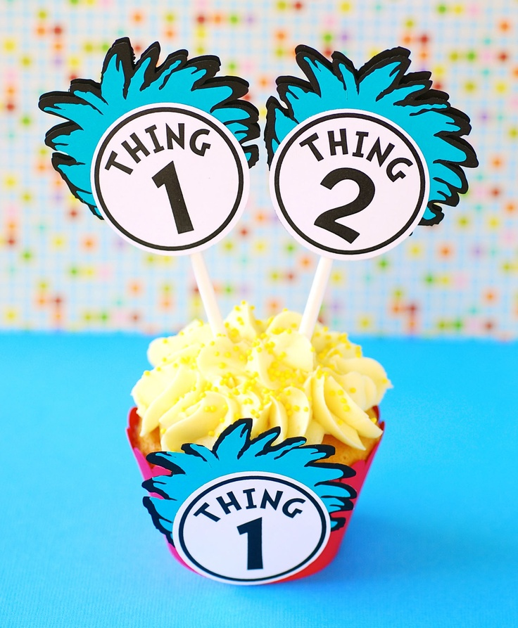New Thing 1 & Thing 2 Cupcake Toppers!  $11.50 / dozen