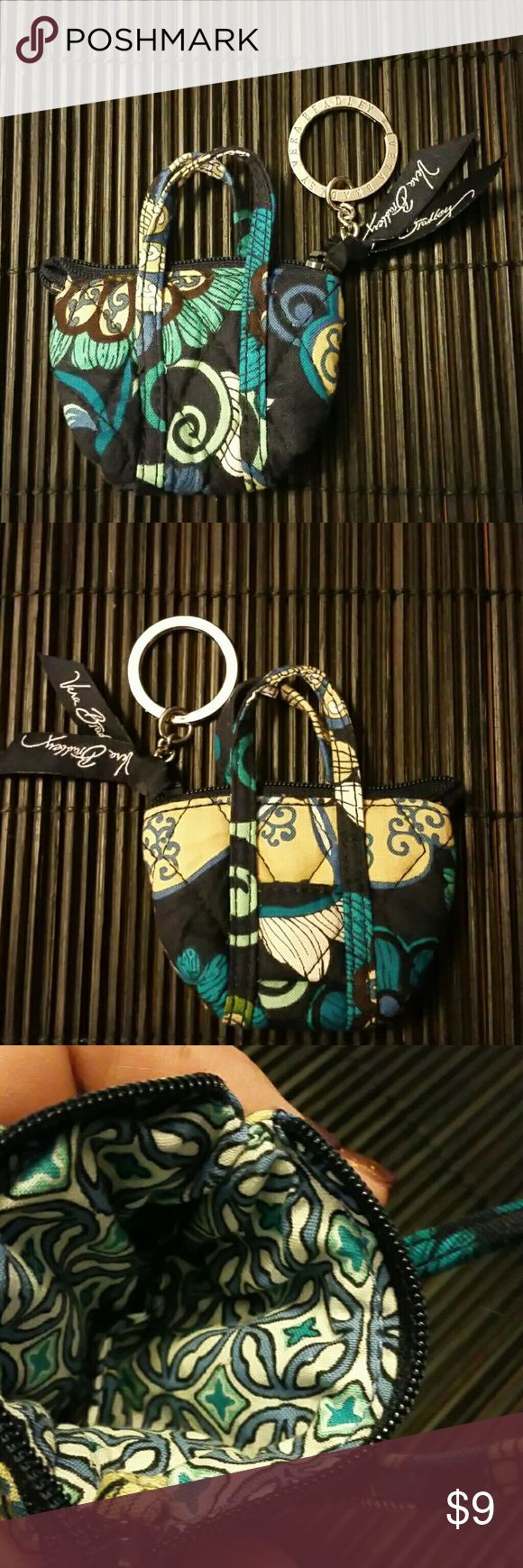 """Vera Bradley Tote Bag Keychain Key Ring Fob Retire Very good condition - retired print - 3"""" long at widest point - 4"""" tall including handles Vera Bradley Bags Wallets"""